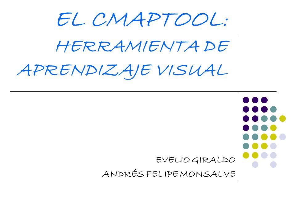 EL CMAPTOOL : HERRAMIENTA DE APRENDIZAJE VISUAL EVELIO GIRALDO ANDRÉS FELIPE MONSALVE