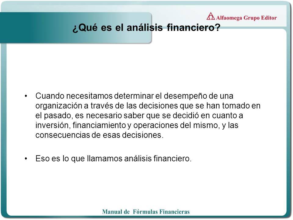 ¿Qué es el análisis financiero? Cuando necesitamos determinar el desempeño de una organización a través de las decisiones que se han tomado en el pasa