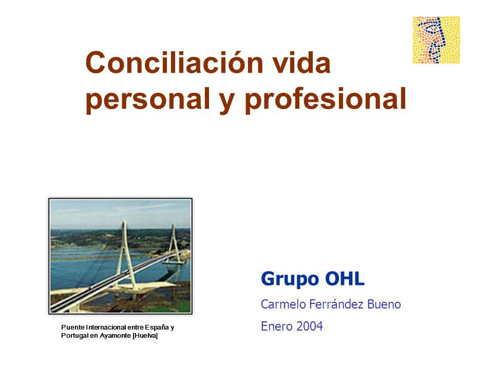 Conciliación vida personal y profesional Grupo OHL Carmelo Ferrández Bueno Enero 2004 Puente Internacional entre España y Portugal en Ayamonte [Huelva