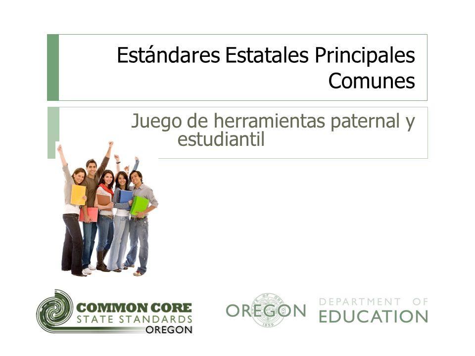 Estándares Estatales Principales Comunes Juego de herramientas paternal y estudiantil