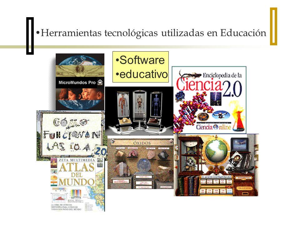 Herramientas tecnológicas utilizadas en Educación Software educativo