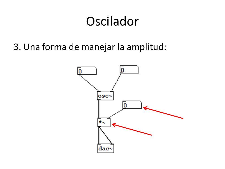 Oscilador 3. Una forma de manejar la amplitud: