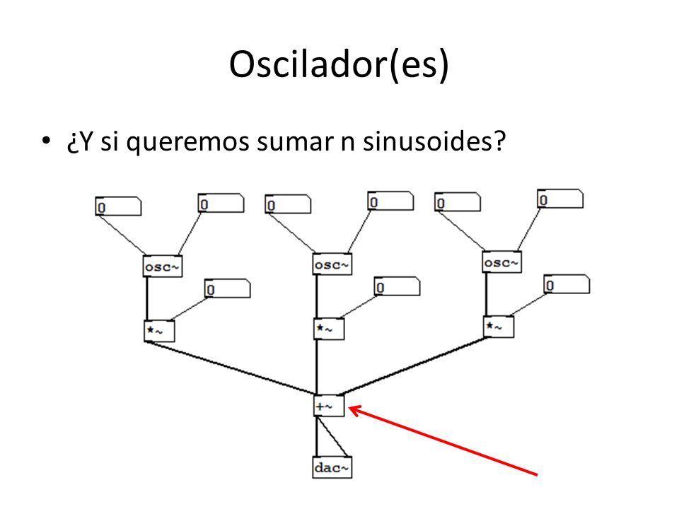 Oscilador(es) ¿Y si queremos sumar n sinusoides?