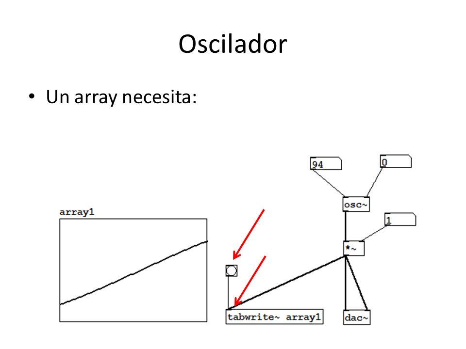 Oscilador Un array necesita:
