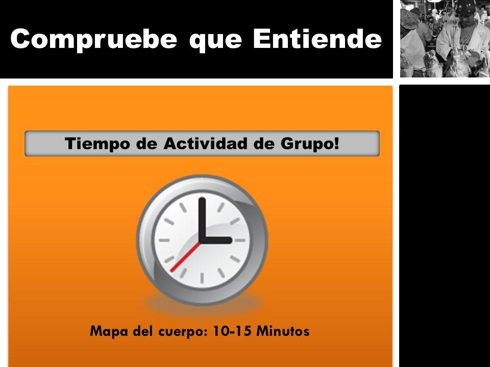 Compruebe que Entiende Tiempo de Actividad de Grupo! Mapa del cuerpo: 10-15 Minutos