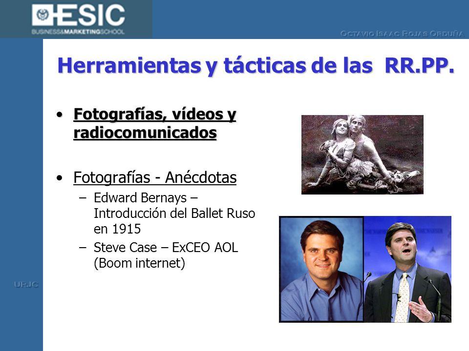 Herramientas y tácticas de las RR.PP. Fotografías, vídeos y radiocomunicadosFotografías, vídeos y radiocomunicados Fotografías - Anécdotas –Edward Ber