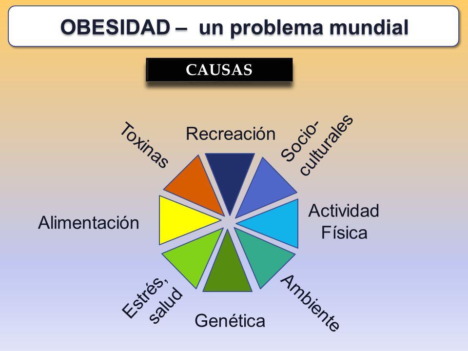 CAUSAS Socio- culturales Genética Alimentación Recreación Actividad Física Estrés, salud Toxinas Ambiente