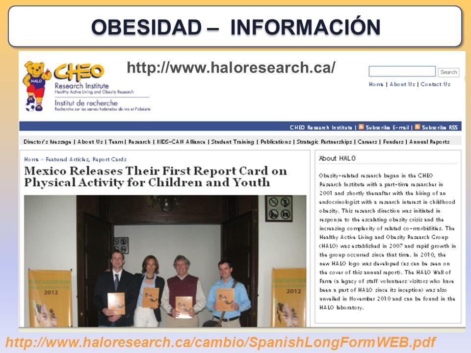http://www.haloresearch.ca/ http://www.haloresearch.ca/cambio/SpanishLongFormWEB.pdf