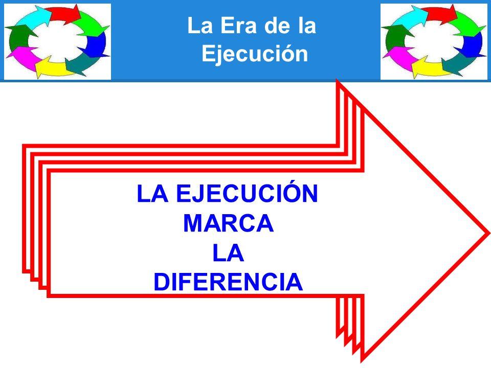 La Era de la Ejecución LA EJECUCIÓN MARCA LA DIFERENCIA LA EJECUCIÓN MARCA LA DIFERENCIA