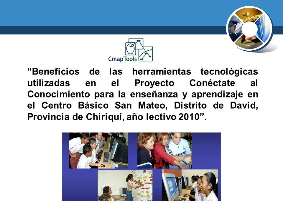 Beneficios de la utilización de la herramienta CmapTools en el Centro Básico San Mateo: 1.