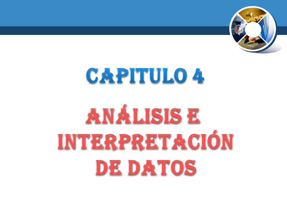 ANÁLISIS E INTERPRETACIÓN DE DATOS