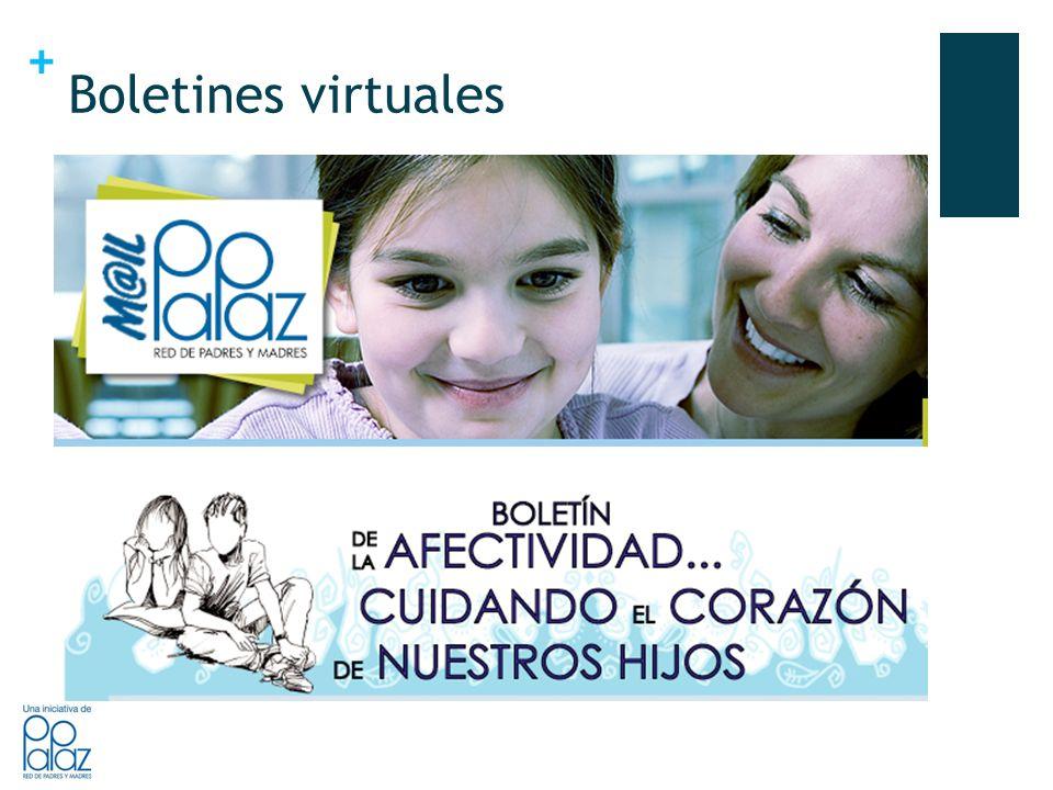 + Boletines virtuales