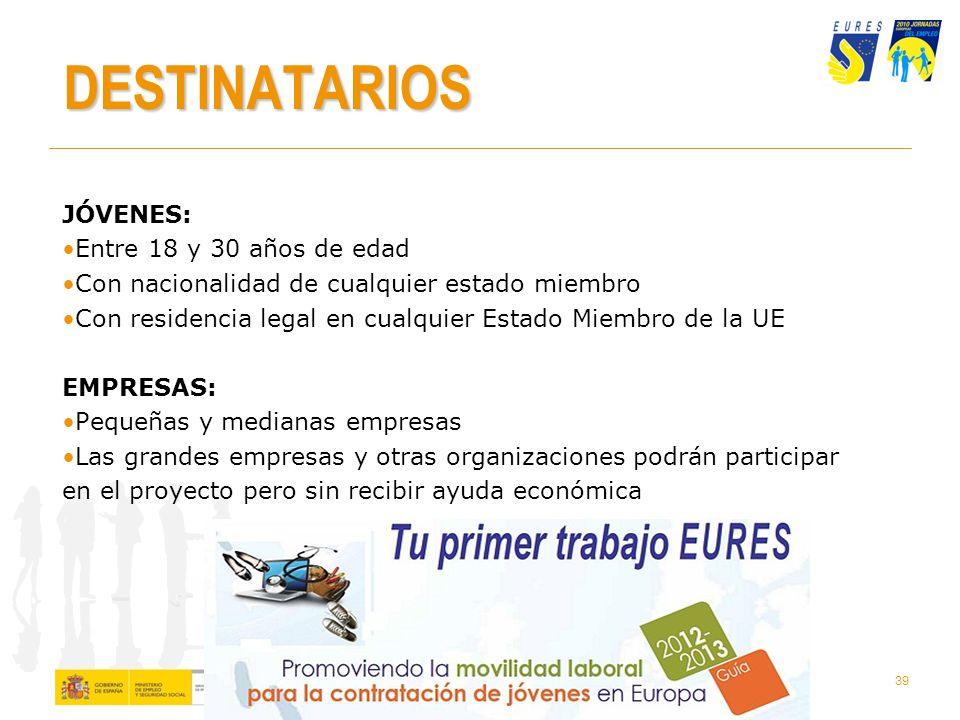 38 Qué es Tu Primer Trabajo EURES Es un proyecto piloto creadop por la UE en el marco de Juventud en Movimiento Para promover la movilidad laboral de