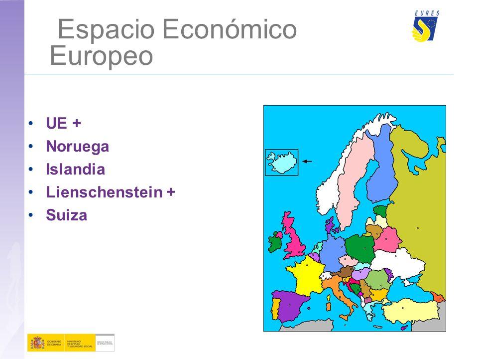 Espacio Económico Europeo UE + Noruega Islandia Lienschenstein + Suiza