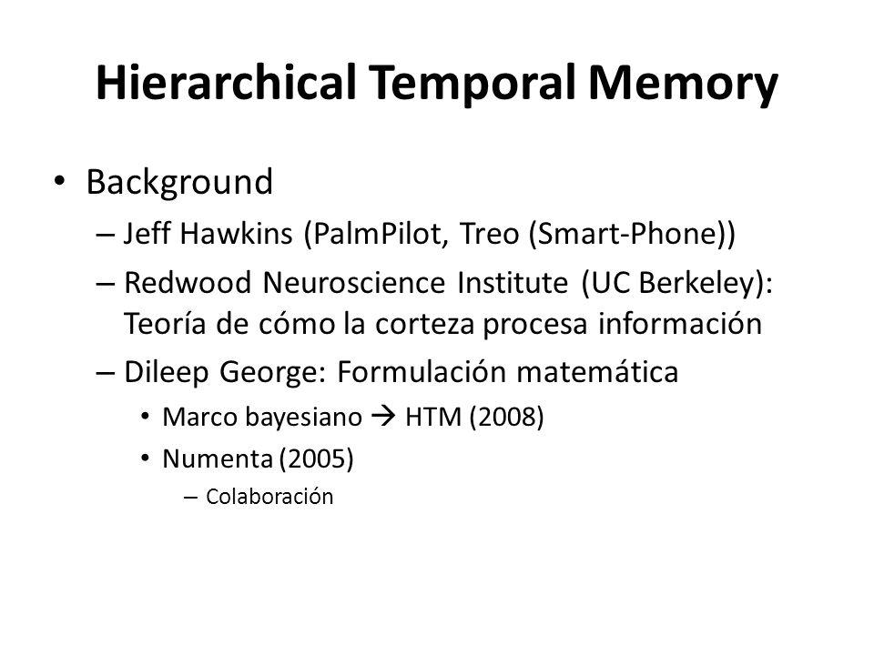 Hierarchical Temporal Memory Background – Jeff Hawkins (PalmPilot, Treo (Smart-Phone)) – Redwood Neuroscience Institute (UC Berkeley): Teoría de cómo