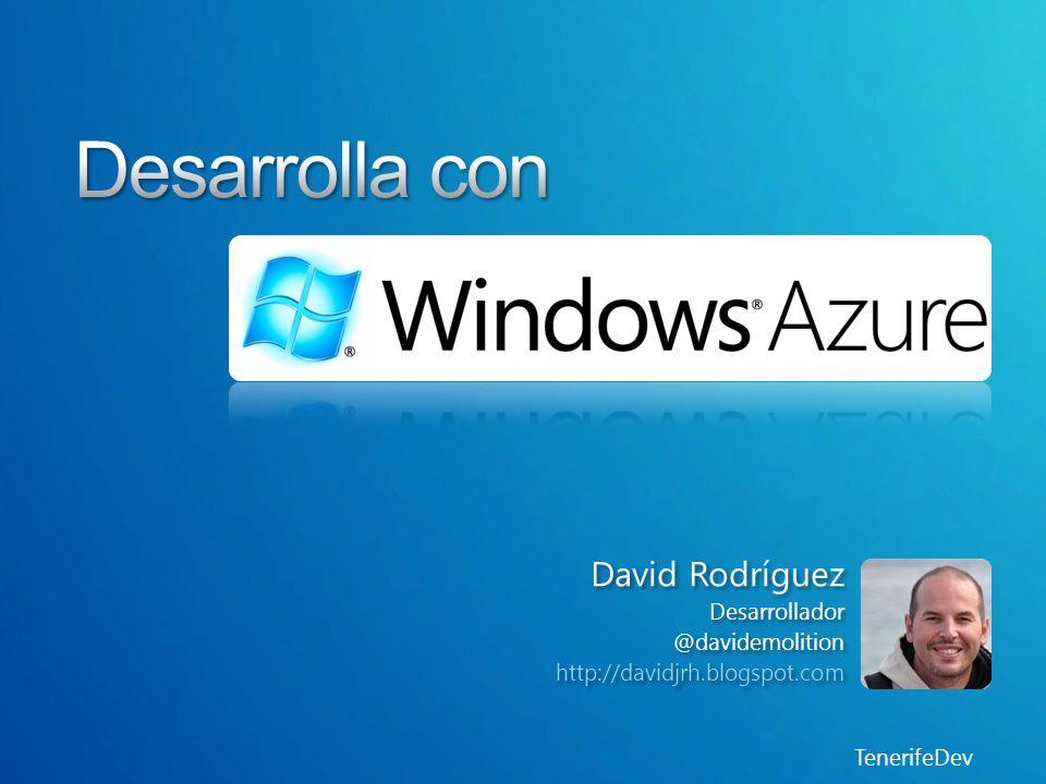 TenerifeDev Windows Azure es una plataforma para desarrolladores Facilitar servicios de infraestructura a golpe de click Todo está balanceado Muchos productos existentes y muchos por llegar