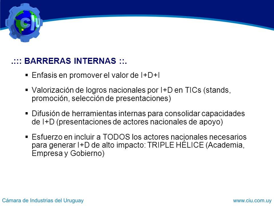 .::: BARRERAS INTERNAS ::.