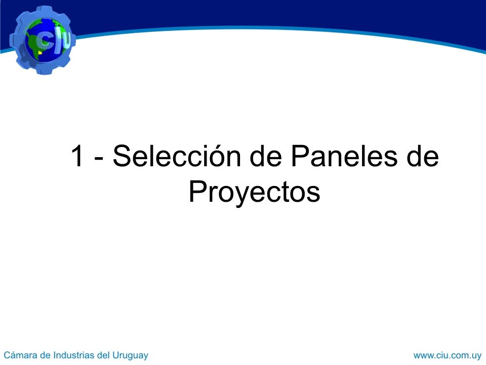 1 - Selección de Paneles de Proyectos