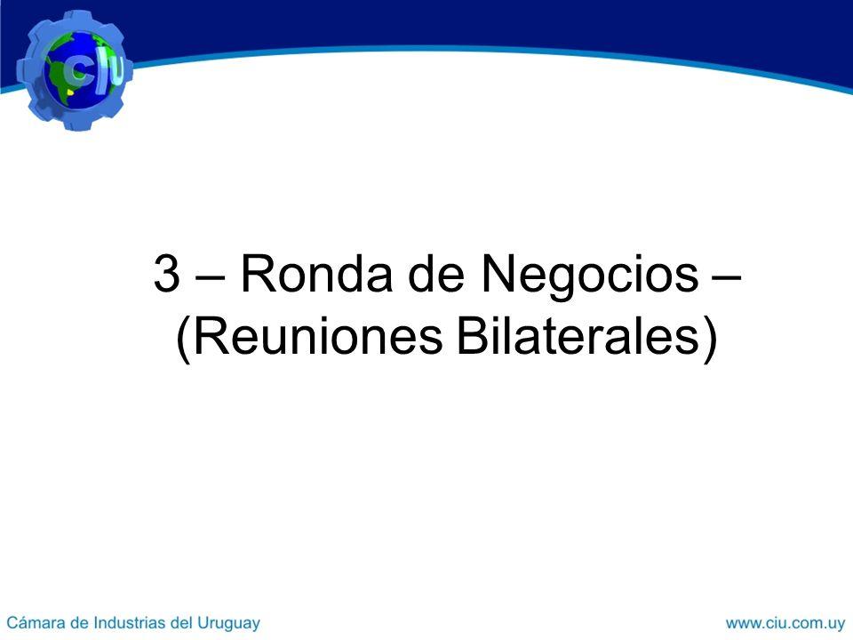 3 – Ronda de Negocios – (Reuniones Bilaterales)