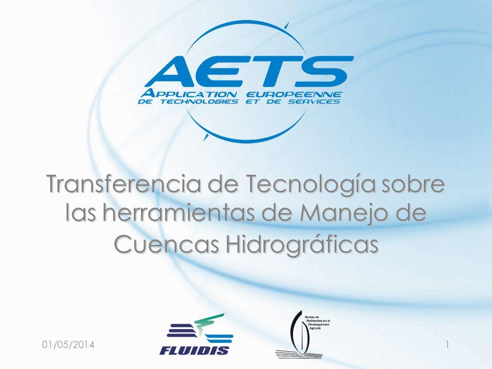 01/05/20141 Transferencia de Tecnología sobre las herramientas de Manejo de Cuencas Hidrográficas
