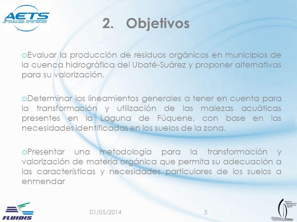 01/05/20145 oEvaluar la producción de residuos orgánicos en municipios de la cuenca hidrográfica del Ubaté-Suárez y proponer alternativas para su valo