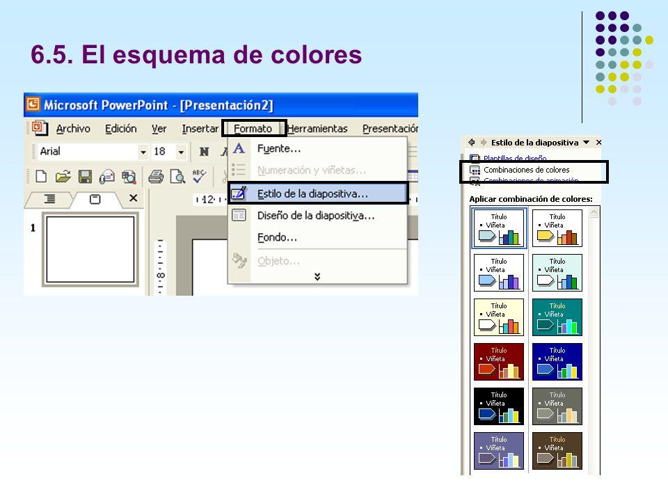 6.5. El esquema de colores