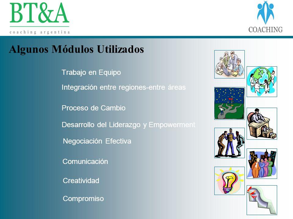 Trabajo en Equipo Integración entre regiones-entre áreas Proceso de Cambio Desarrollo del Liderazgo y Empowerment Negociación Efectiva Comunicación Cr