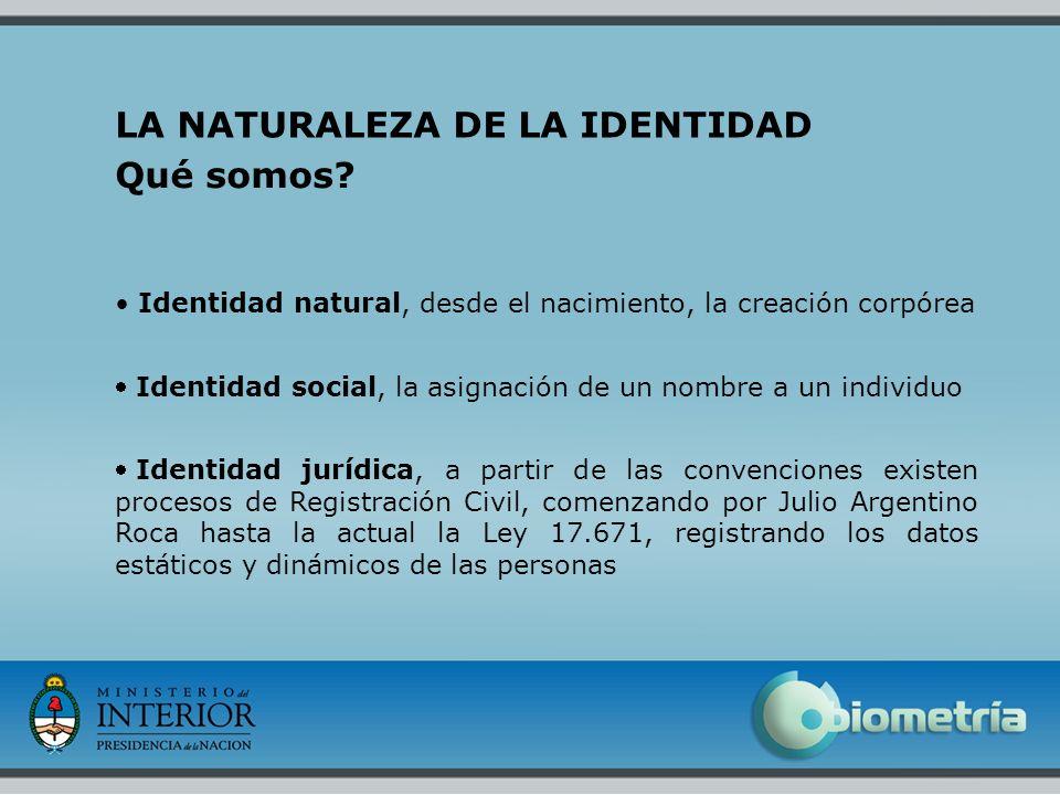 2 LA NATURALEZA DE LA IDENTIDAD Qué somos? Identidad natural, desde el nacimiento, la creación corpórea Identidad social, la asignación de un nombre a