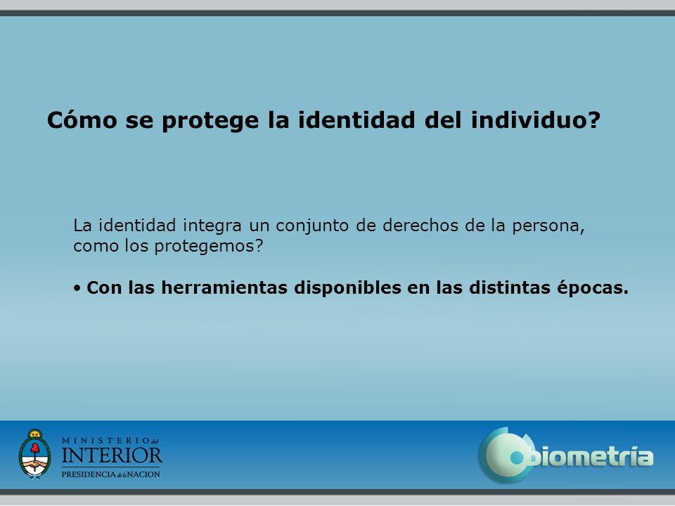 3 Cómo se protege la identidad del individuo? La identidad integra un conjunto de derechos de la persona, como los protegemos? Con las herramientas di