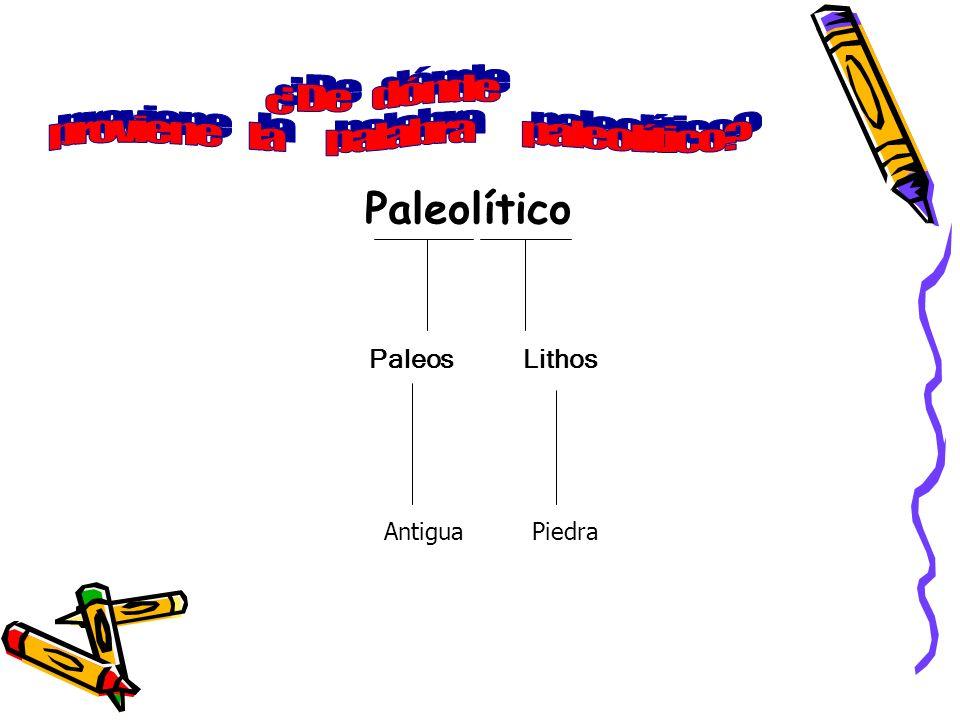 Paleolítico Paleos Lithos Antigua Piedra