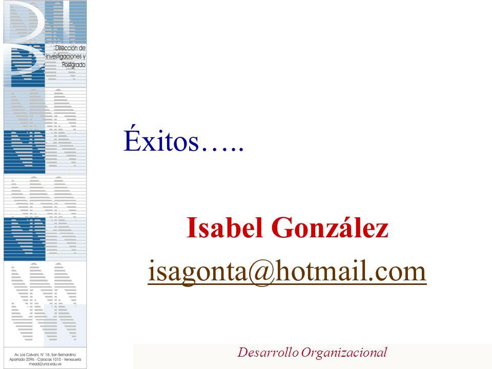 Desarrollo Organizacional Éxitos….. Isabel González isagonta@hotmail.com