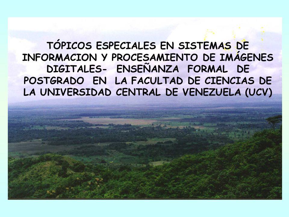 TÓPICOS ESPECIALES EN SISTEMAS DE INFORMACION Y PROCESAMIENTO DE IMÁGENES DIGITALES- ENSEÑANZA FORMAL DE POSTGRADO EN LA FACULTAD DE CIENCIAS DE LA UN