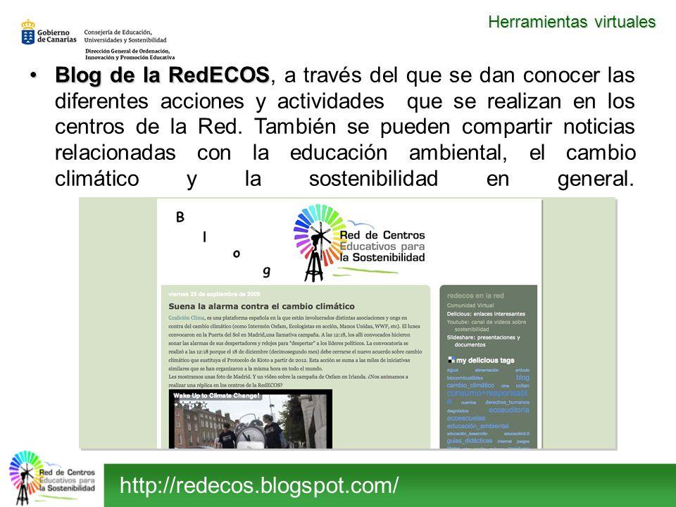 Blog de la RedECOSBlog de la RedECOS, a través del que se dan conocer las diferentes acciones y actividades que se realizan en los centros de la Red.