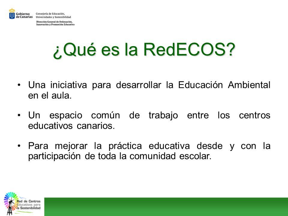 ¿Qué es la RedECOS? Una iniciativa para desarrollar la Educación Ambiental en el aula. Un espacio común de trabajo entre los centros educativos canari