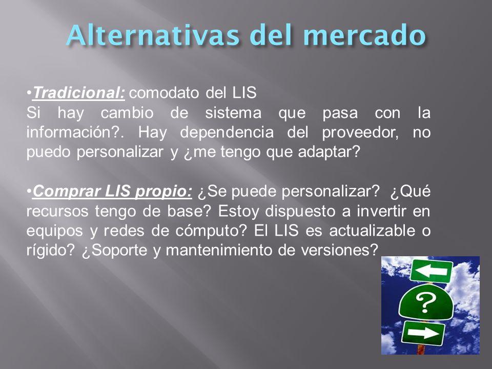 Tradicional: comodato del LIS Si hay cambio de sistema que pasa con la información?.