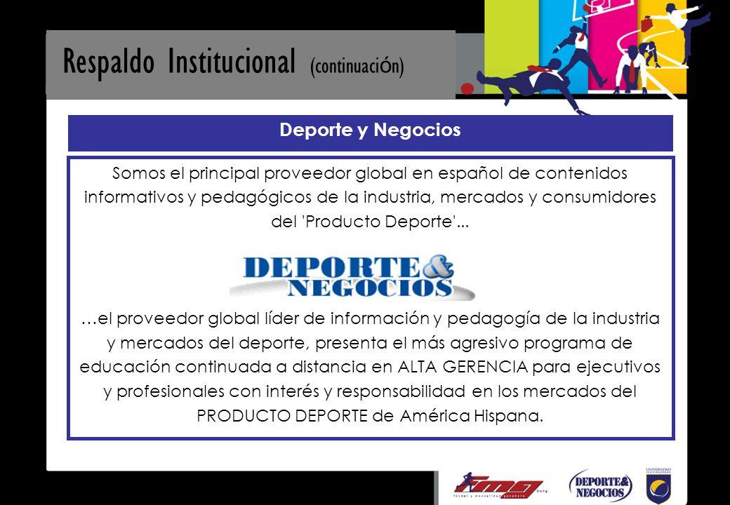 Deporte y Negocios Somos el principal proveedor global en español de contenidos informativos y pedagógicos de la industria, mercados y consumidores del Producto Deporte ...