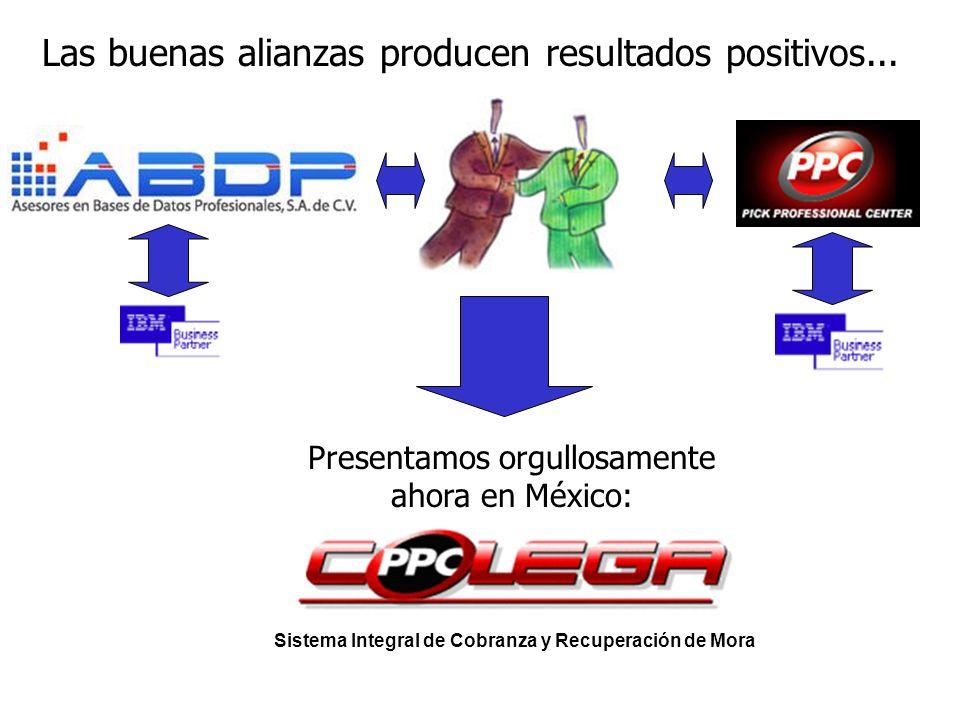 Las buenas alianzas producen resultados positivos... Presentamos orgullosamente ahora en México: Sistema Integral de Cobranza y Recuperación de Mora
