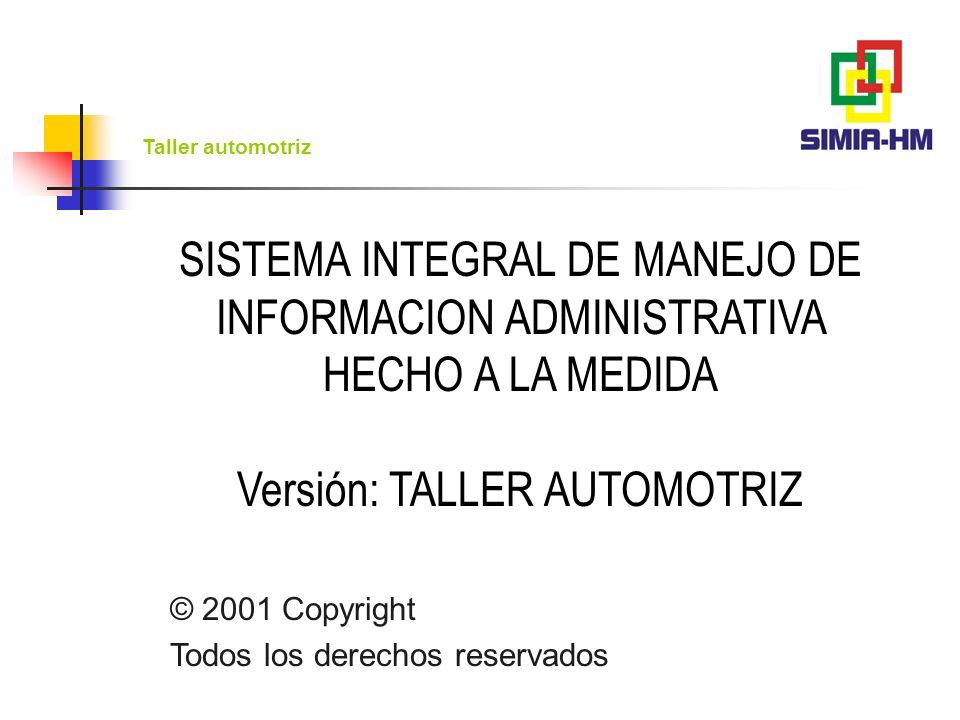 Taller automotriz Servicios Control de caja Ventas Atención a clientes Control de usuarios Compras Cuentas por pagar Inventarios Esquema