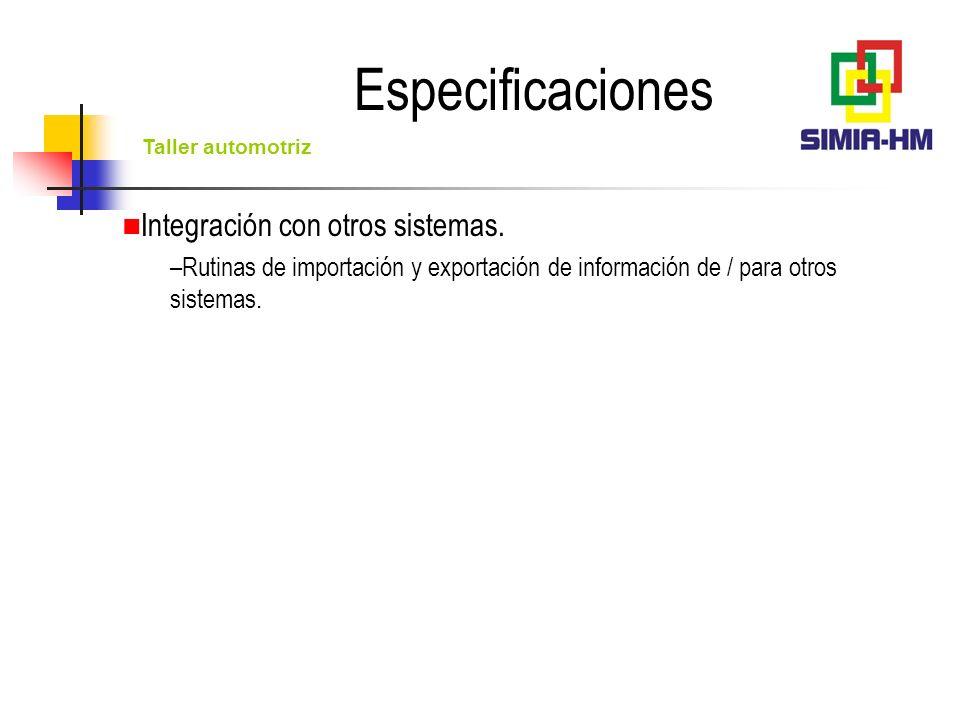 Taller automotriz Operación en redes multiusuarios o equipos aislados.
