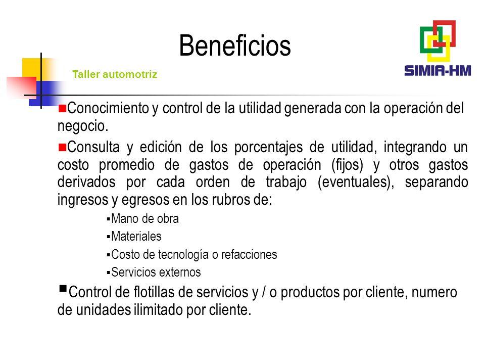 Taller automotriz Control de servicios a unidades: Operaciones de búsqueda inmediata de servicios, clientes y unidades.