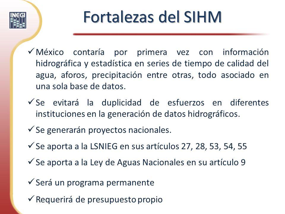 México contaría por primera vez con información hidrográfica y estadística en series de tiempo de calidad del agua, aforos, precipitación entre otras,