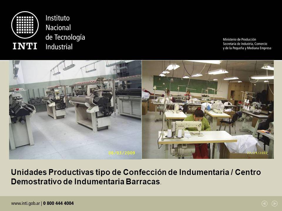 Unidades Productivas tipo de Confección de Indumentaria / Centro Demostrativo de Indumentaria Barracas.