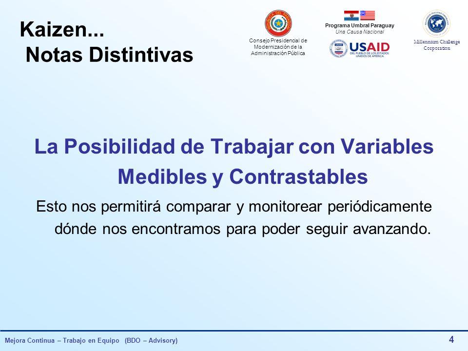 Consejo Presidencial de Modernización de la Administración Pública Millennium Challenge Corporation Programa Umbral Paraguay Una Causa Nacional Mejora Continua – Trabajo en Equipo (BDO – Advisory) 54 Defectos DetectadosTotalPorc.Acum.