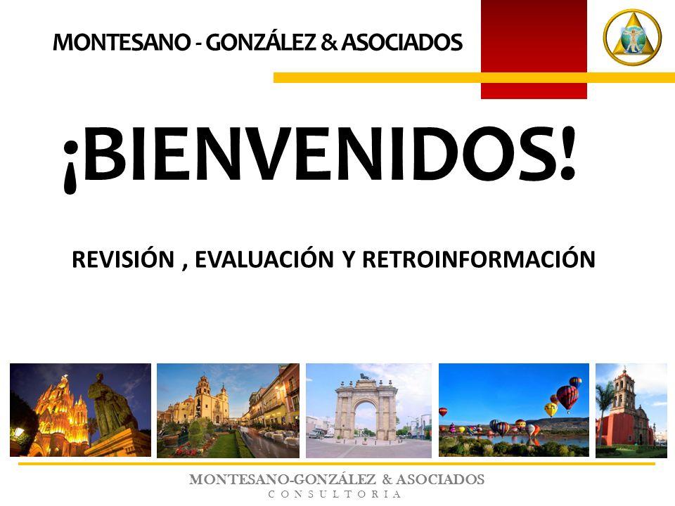 MONTESANO-GONZÁLEZ & ASOCIADOS CONSULTORIA ¡BIENVENIDOS! MONTESANO - GONZÁLEZ & ASOCIADOS REVISIÓN, EVALUACIÓN Y RETROINFORMACIÓN