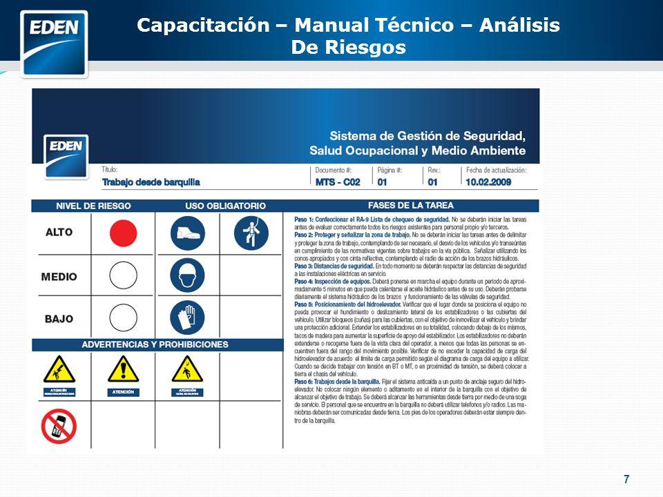 7 Capacitación – Manual Técnico – Análisis De Riesgos