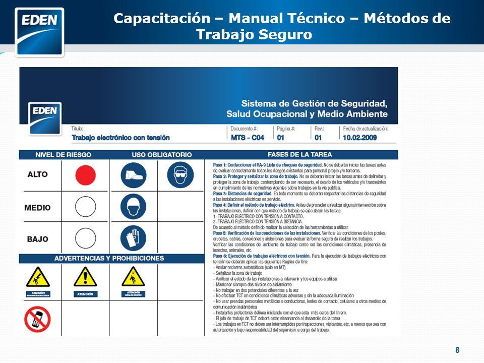 8 Capacitación – Manual Técnico – Métodos de Trabajo Seguro