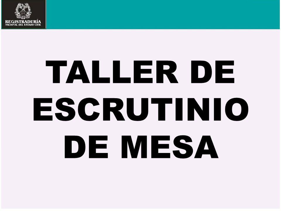 TALLER DE ESCRUTINIO DE MESA