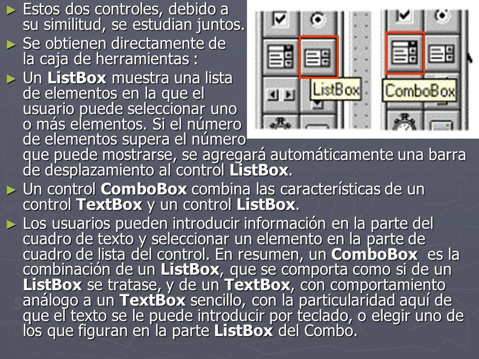 El ComboBox está normalmente sin desplegar.