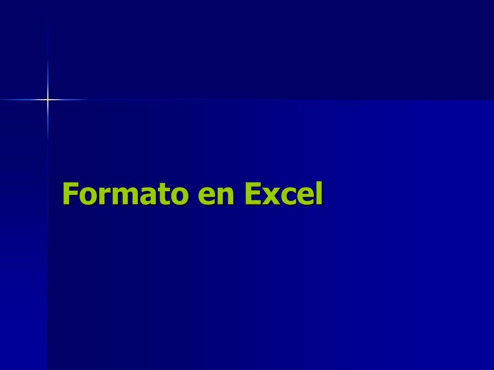 Formato en Excel
