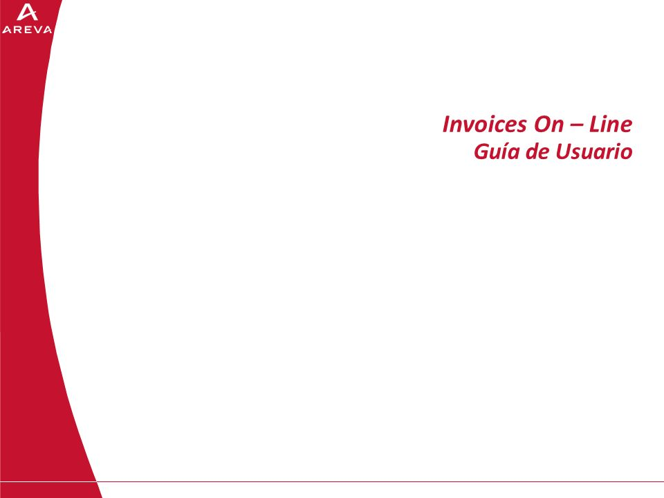 Invoices On – Line Guía de Usuario